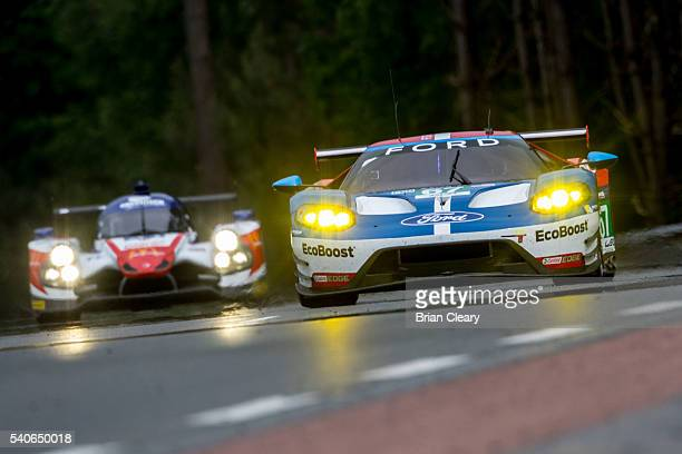 The Ford GT of Marino Franchitti of Great Britain Andy Priaulx of Germany and Harry Tincknell of Great Britain races on the track during opening...