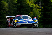 The Ford GT of Ryan Birscoe of Australia and Richard Westbrook of Great Britain drives on the track during practice for the IMSA WeatherTech Series...