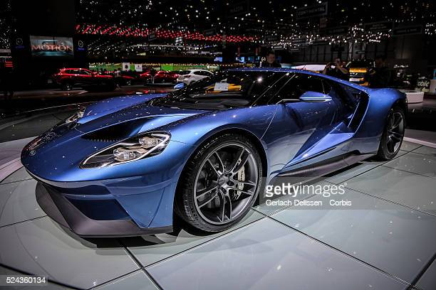The Ford GT on display at the 85th Geneva International Motor Show March 4th Switzerland