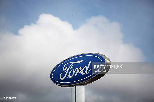 The Ford logo is displayed in front of Serramonte Ford on February 23 2011 in Colma California Ford announced today that they are recalling close to...