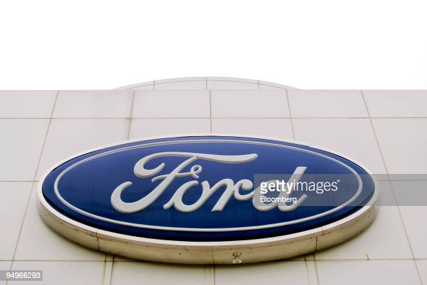 The Ford Logo Is Displayed Outside Crossroad Dealership