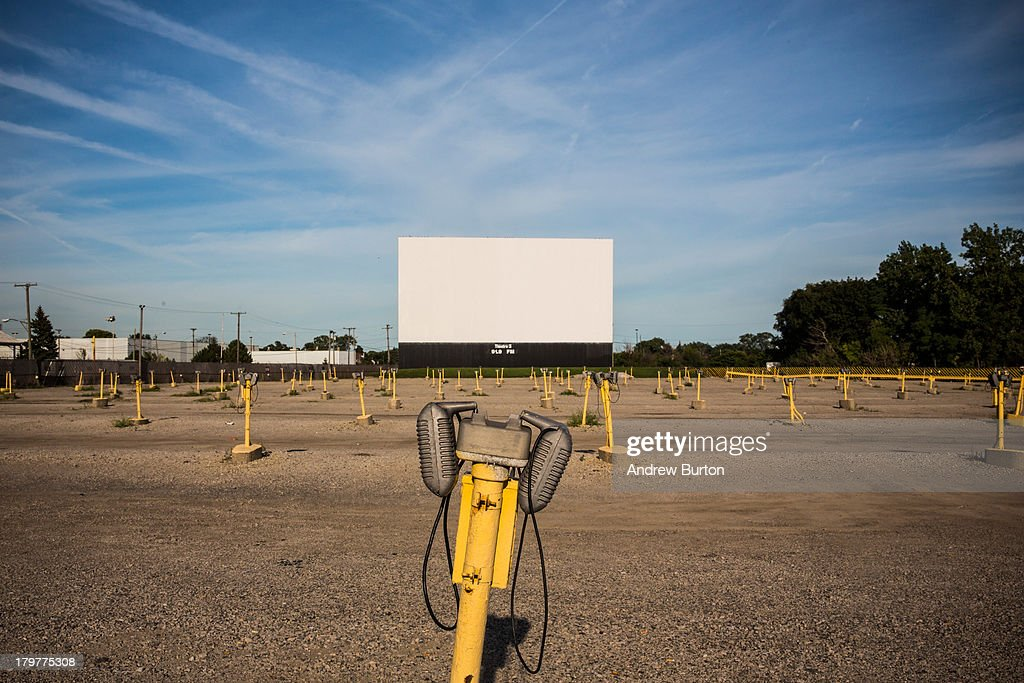 The Ford Wyoming Drive In Movie - which still has three operating screens - is seen on September 6, 2013 in Detroit, Michigan. Detroit is struggling with over 78,000 abandoned homes across 140 square miles and 16% unemployment; in July, the city declared bankruptcy.