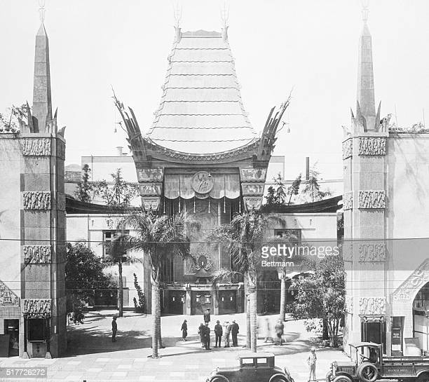 The forecourt of Grauman's Chinese Theatre which has been styled by architects as one of the finest examples of theatre construction in the world The...