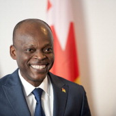 The foreign Minister of Togo Robert Dussey attends a bilateral meeting with German Development Minister Gerd Mueller in the ministry for development...