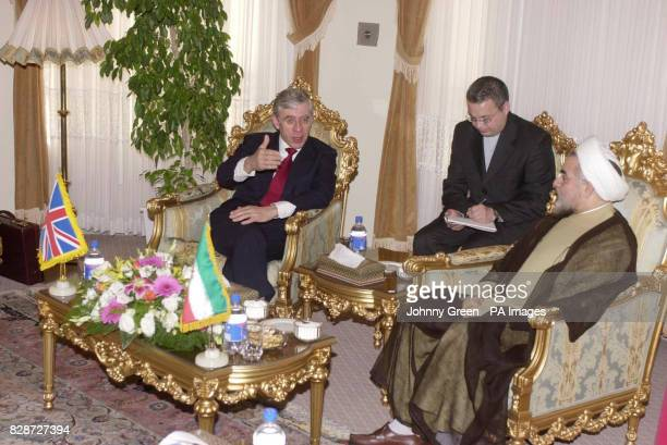 The Foreign Secretary Jack Straw and the Chairman of the Supreme National Security Council Dr Rouhani meet to discuss issues within Iran and her...