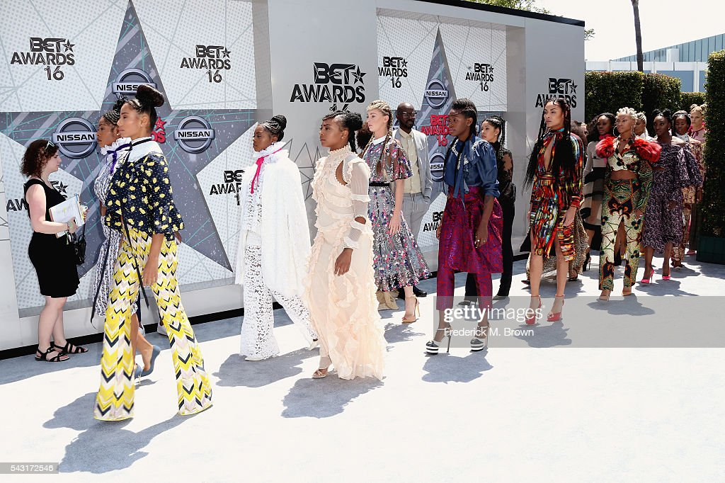 The 'Formation' music video dancers attend the 2016 BET Awards at the Microsoft Theater on June 26, 2016 in Los Angeles, California.