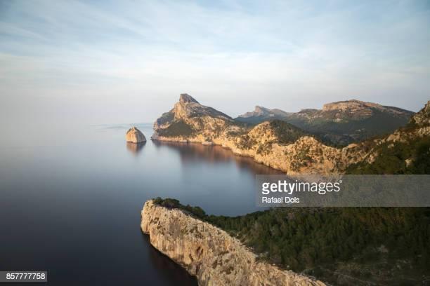The Formentor Peninsula at sunset, Majorca, Balearic Islands, Spain