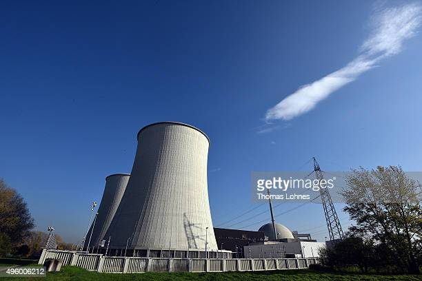 The former Biblis nuclear power plant stands on November 5 2015 in Biblis Germany German Chancellor Angela Merkel is scheduled to testify this coming...