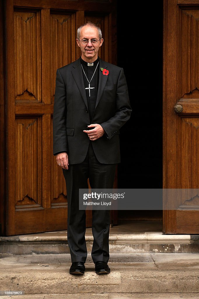 The former Bishop of Durham, the Rt Rev Justin Welby, poses for photographs after a press conference confirming his appointment as the Archbishop of Canterbury on November 9, 2012 in London, England. He will commence his post as the most senior figure within the Church of England in March 2013, succeeding Dr Rowan Williams.