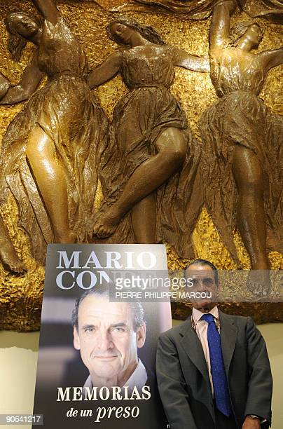 The former chairman of the Banesto bank Mario Conde arrives for the presentation of his book 'Memorias de un preso' on September 10 2009 in Madrid...