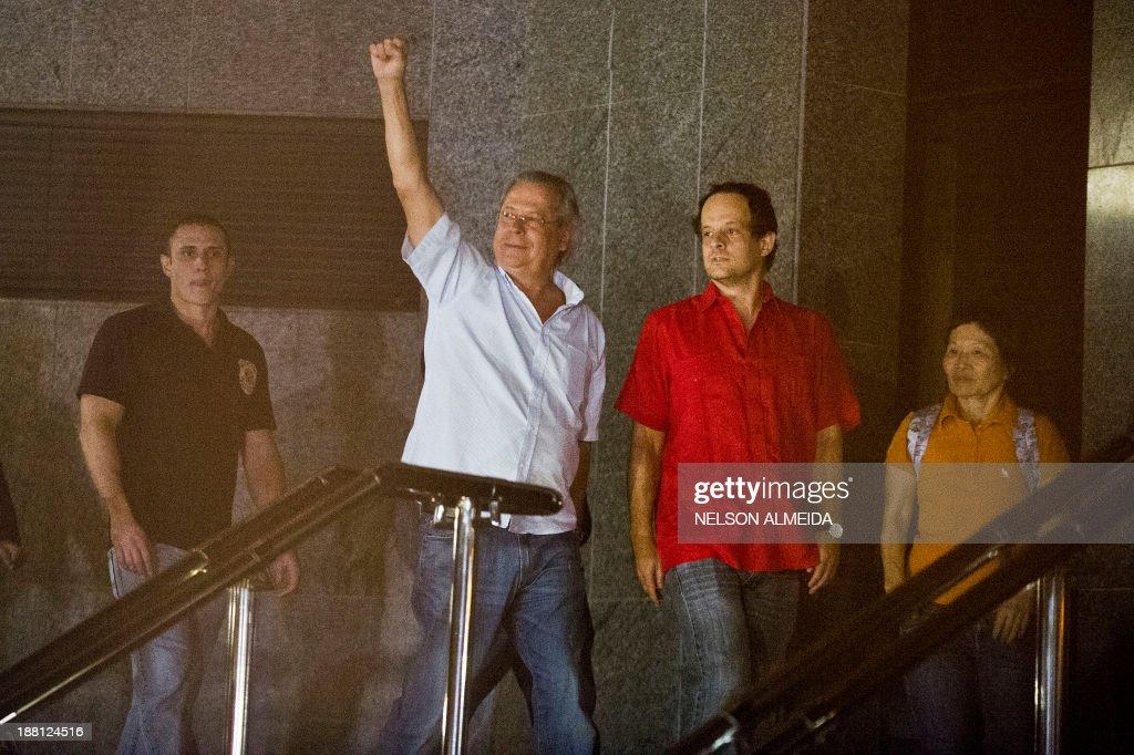 The former Chief of Staff of Brazilian President Luiz Inacio Lula da Silva Jose Dirceu one of the accused in the Mensalao scandal arrives at the...
