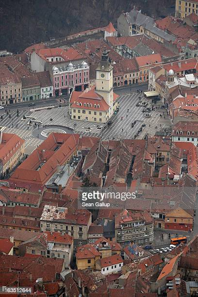 The former Council House built in 1420 in Sfatului square stands among other Saxonbuilt houses in the historic district on March 9 2013 in Brasov...