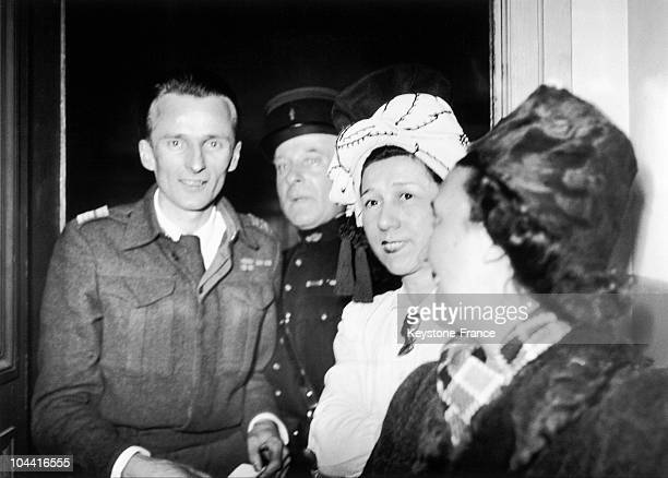 The former French Resistance fighter Rene HARDY after the verdict in 1947 which acquitted him of the charge of having denounced Jean MOULIN