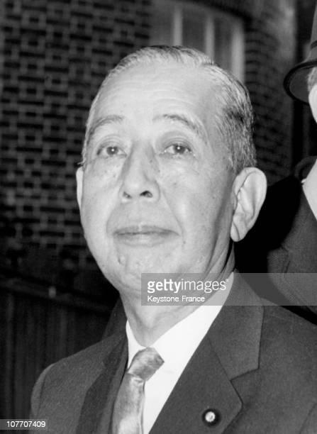 The Former Japanese Prime Minister Nobusuke Kishi On January 26 19651965