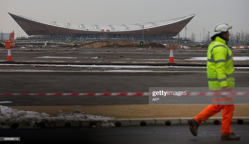 The former London 2012 Olympic Velodrome is pictured in the Queen Elizabeth Olympic Park in east London, on January 25, 2013. The £292 million ($463 million, 348 million euro) complete transformation of the Olympic Park, which began when the London 2012 Games ended, is set to take 18 months. AFP PHOTO/ANDREW COWIE