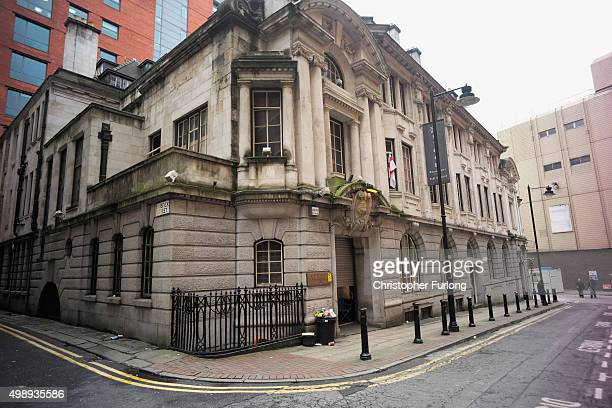 The former Manchester Stock Exchange which is being used by homeless people as temporary accommodation before it is developed into a boutique hotel...