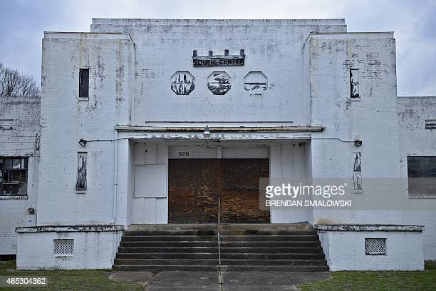 The former National Guard Armory once used to jail voting rights activists is seen on March 5 2015 in Selma Alabama Saturday will mark the 50th...