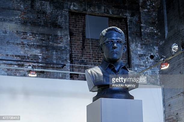 The former National Security Agency contractor and leaker Edward Snowden's bust on display as a 'special guest project' in an annual collaborative...
