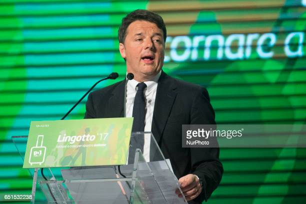 The former Prime Minister of Italy Matteo Renzi starts his electoral rally in Torino in an auditorium full of spectators at Lingotto where Veltroni...
