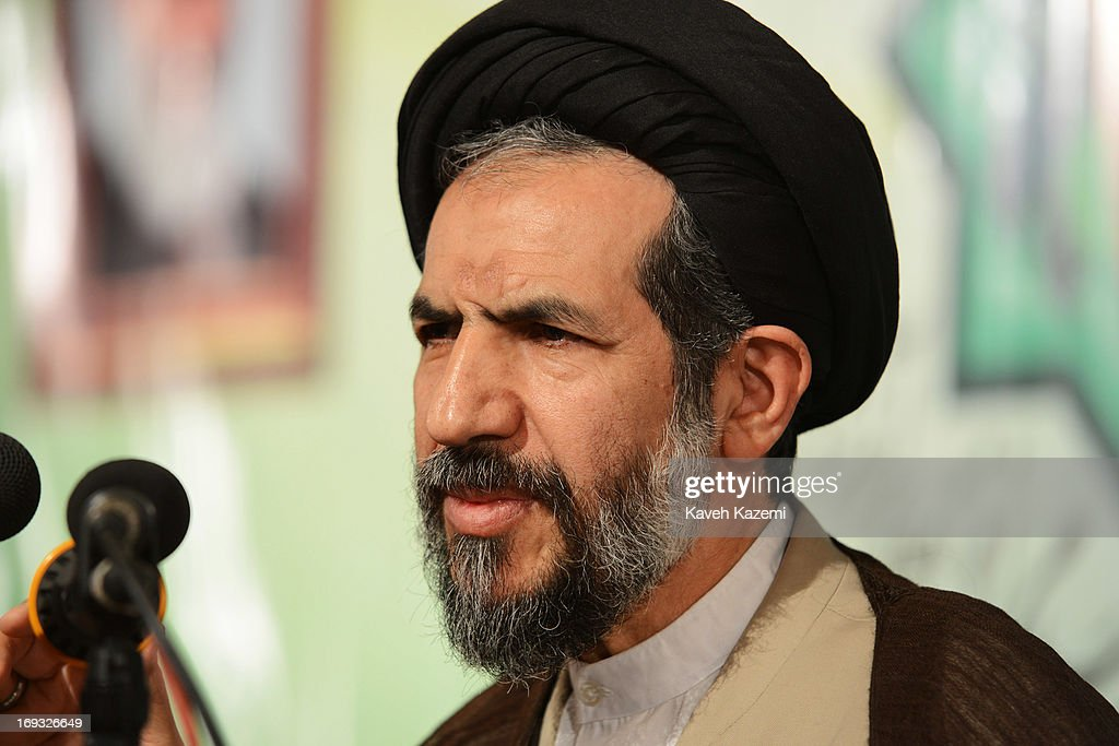 The former principalist presidential candidate Hojatoleslam Mohammad-Hassan Aboutorabi Fard speaks at Tehran University on May 23, 2013 in Tehran, Iran. Fard pulled out of the race voluntarily a few days before final candidates were announced. He is the conservative First Deputy Speaker of the Parliament of Iran.