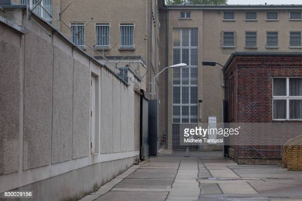 The former prison of the East German communistera secret police or Stasi at Hohenschoenhausen on August 11 2017 in Berlin Germany The State Security...