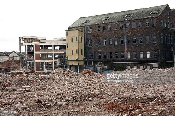 The former Royal Doulton china works at Burslem which is being demolished reflects a bygone era of industrial prosperity on 15 October 2008 near...