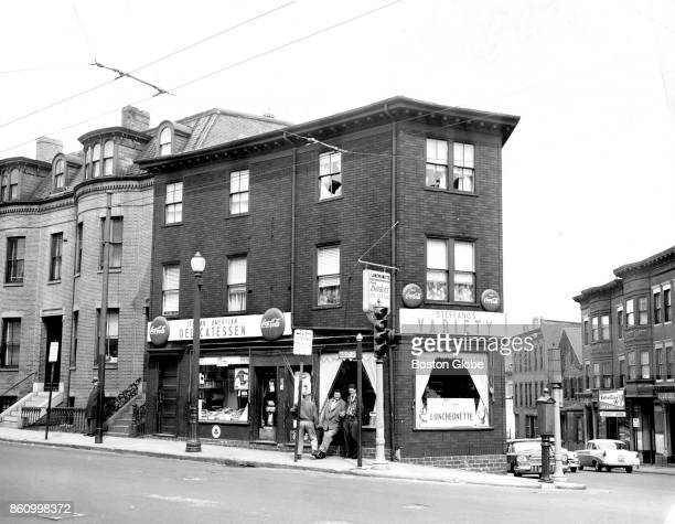 The former site of the Roxbury Tammany Club organized by thenstate legislator James M Curley and his brother John in 1901 is pictured at the corner...