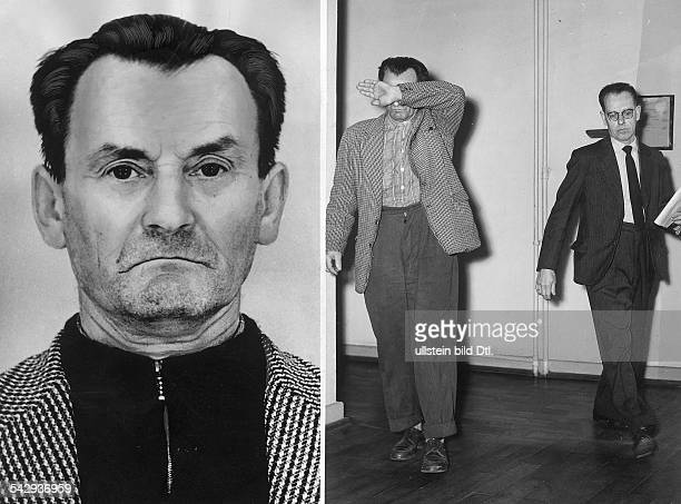 The former SS Sergeant Gottlieb Muzikant convicted for the murder of prisoners in the concentration camp Mauthausen and Ravensbrück Portrait right...
