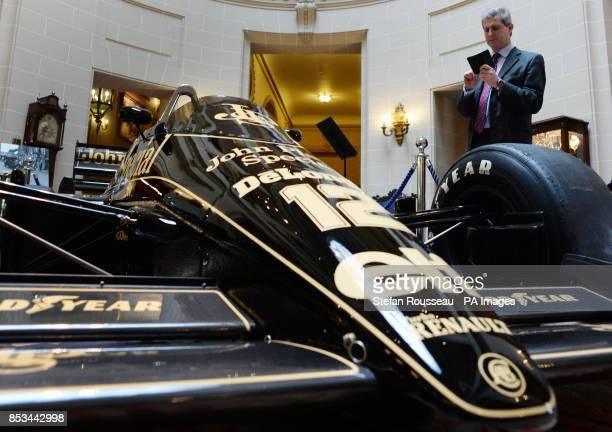 The Formula One Lotus racing car driven by the late Ayrton Senna who was killed 20 years ago goes on display at the Royal Automobile Club in London