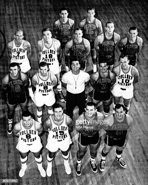 The Fort Wayne Zollner Pistons pose for a team portrait circa 1945 in Fort Wayne Indiana NOTE TO USER User expressly acknowledges and agrees that by...