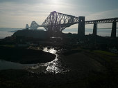 The Forth Bridge a cantilever railway bridge over the Firth of Forth in the east of Scotland to the east of the Forth Road Bridge and 14 km west of...