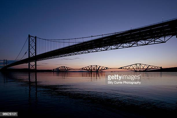 The Forth Road and Rail Bridges