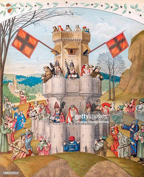 The Fortress Of The Faith Besieged By The Impious And The Heretics Is Defended By The Pope The Bishops The Monks And Doctors Of The Church Who Are...