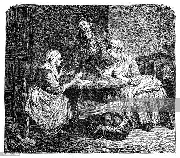 The Fortune Teller A scene from rustic French life during the 17th century