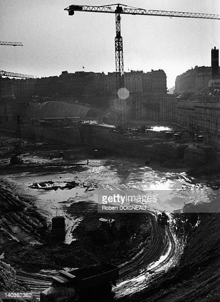 The Forum des Halles under construction the future site of the Forum des Halles was an enormous open pit nicknamed 'le Trou des Halles' for several...