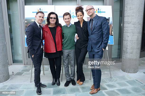 The Fosters creator/executive producer Bradley Bredeweg TV host Rosie O'Donnell and Hayden Byerly actress Sherri Saum and actor Peter Paige attend...