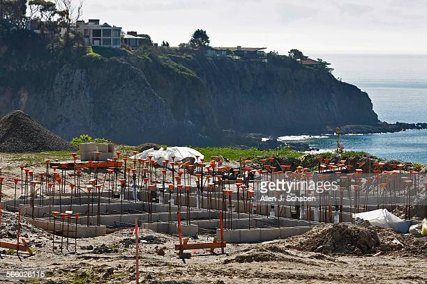 The foundation of a restroom stands near the 30 tent camping and 30 RV camping spots will be developed overlooking the ocean at the former El Morro...
