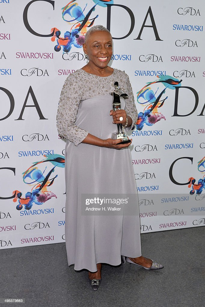 The Founders award, in honor of Eleanor Lambert, recipient <a gi-track='captionPersonalityLinkClicked' href=/galleries/search?phrase=Bethann+Hardison&family=editorial&specificpeople=592075 ng-click='$event.stopPropagation()'>Bethann Hardison</a> attends the winners walk during the 2014 CFDA fashion awards at Alice Tully Hall, Lincoln Center on June 2, 2014 in New York City.