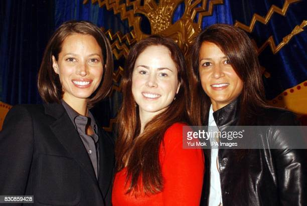 The founders of the Sundari skin care range of cosmetics from left to right Christy Turlington Cavan Mahony and Ayla Hussain make a personal...