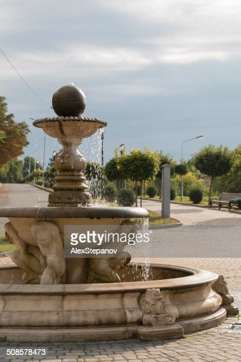La fontana al Sole di mattina in strada : Foto stock