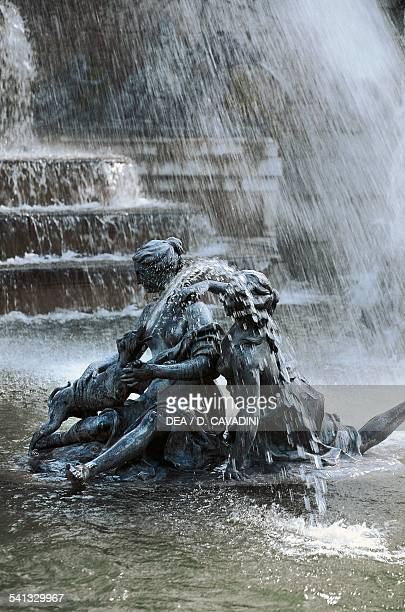 The fountain of Diana's Baths the gardens of the Royal Palace of La Granja de San Ildefonso 18th century CastileLeon Spain Detail