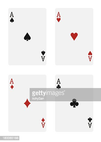 4 aces in a deck of cards