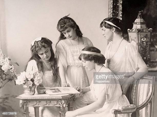 The four daughters of Tsar Nicholas II of Russia the Grand Duchesses Olga Tatiana Maria and Anastasia Nikolaevna circa 1915