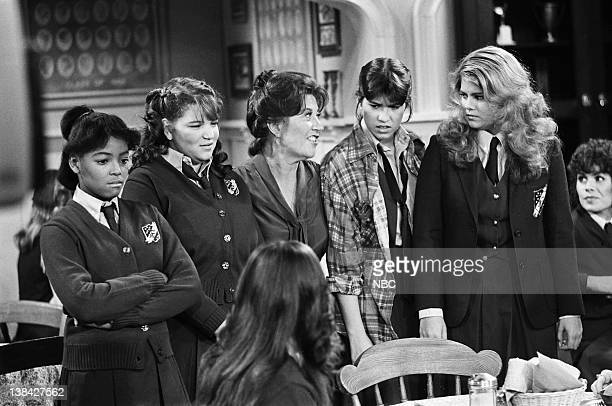LIFE 'The Four Musketeers' Episode 16 Pictured Kim Fields as Dorothy 'Tootie' Ramsey Mindy Cohn as Natalie Green Charlotte Rae as Edna Garrett Nancy...