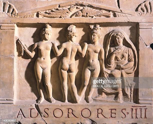 The Four Sisters Sign relief Roman Civilization 1st2nd Century Rome Museo Della Civiltà Romana