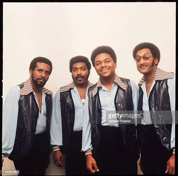 The Four Tops group portrait London LR Levi Stubbs Lawrence Payton Renaldo 'Obie' Benson Abdul 'Duke' Fakir