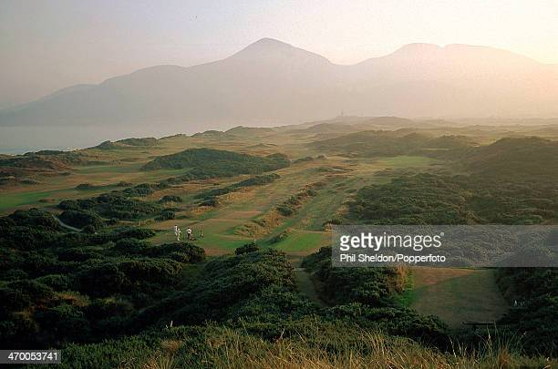 The fourth hole of the Royal County Down Golf Club Northern Ireland 7th April 2000
