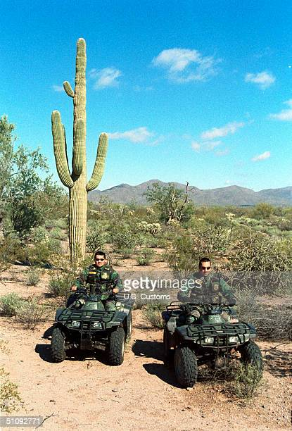 The FourWheel Drive Atv Has Replaced The Horse For The Native American Patrol Officers On The Tohono O'Odham Indian Reservation In Arizona November...