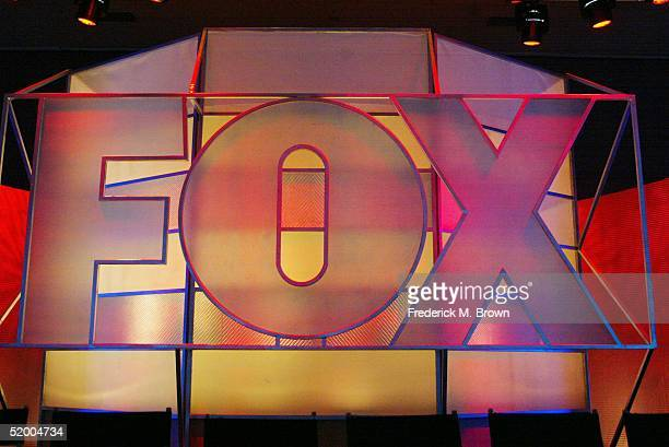The Fox Network logo is displayed during the 2005 Television Critics Winter Press Tour at the Hilton Universal Hotel on January 17 2005 in Universal...