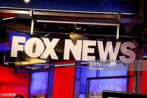 The FOX News logo at FOX Studios on August 16 2011 in New York City